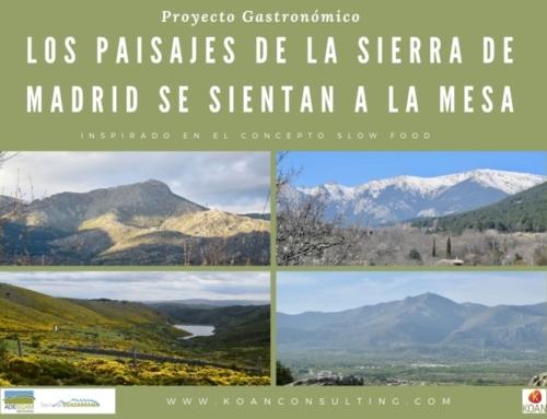 Los paisajes de la sierra de Madrid se sientan a la mesa